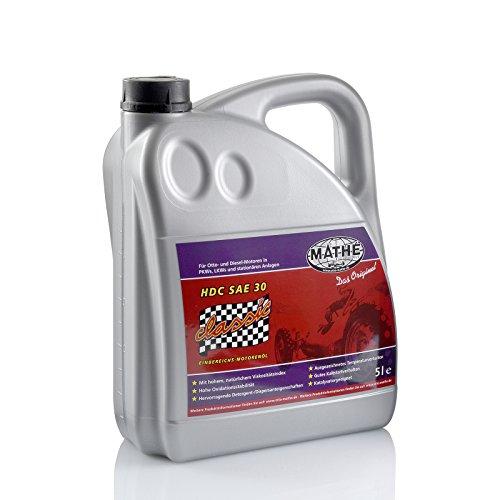 MATHÉ Classic HDC SAE 30 Oldtimer Einbereichs-Motoröl 5 Liter