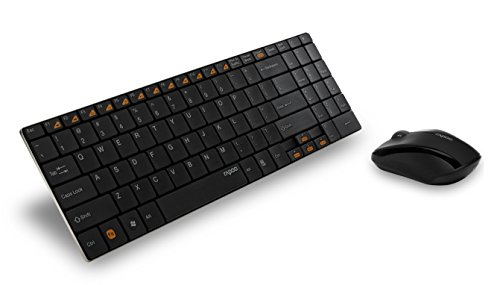 Arion Rapoo 9060 2.4G 5.6mm Ultra-Slim Wireless Keyboard and Mouse 2-in-1 Combo - Black