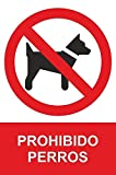 MovilCom® - Adhesivo PROHIBIDO PERROS 100x150mm Señal prohibición (ref.RD46633)