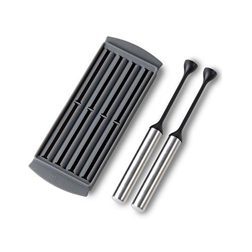 Ad Hoc – AdHoc koeltabs Icestick, set van 2 stuks koeltabbladen inclusief siliconen vorm, roestvrij staal/blinde