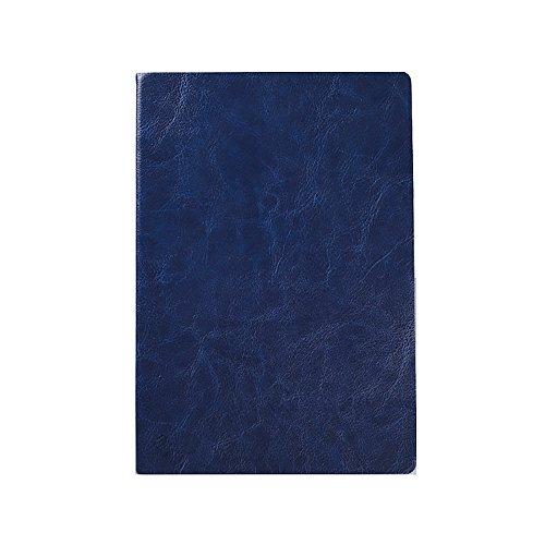 Jia Hu A5-Notizbuch, Ledereinband, dick, mit Spiralbindung, Notizblock, Tagebuch, mit 240Seiten, 80 g/m²  dunkelblau