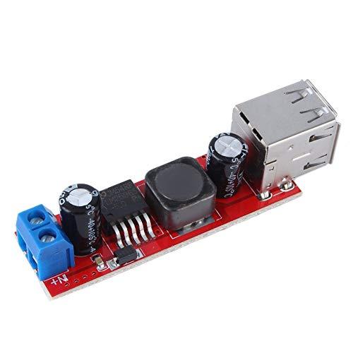 QiKun-Home DC 6V-40V a 5V 3A 150KHZ Módulo de módulo convertidor DC-DC de Carga USB Doble de frecuencia como Muestra la Imagen