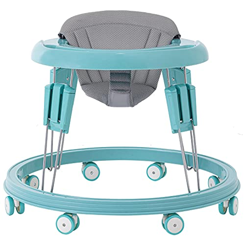 Baby Walker for Boys and Girls, Multi-Functional Toddler Walker with Easy Clean Tray for Baby 6-18Months (Blue)