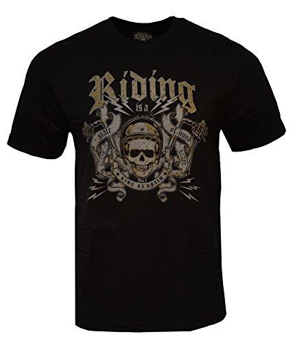 King Kerosin T-Shirt Riding Black-L
