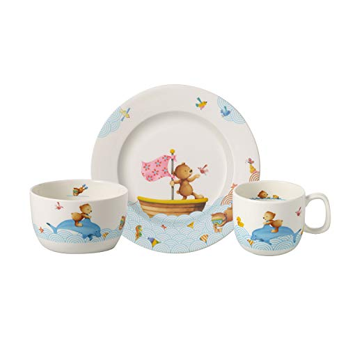 Villeroy & Boch 14-8664-8428 Happy as a Bear Kindergeschirrsets, Premium Porcelain
