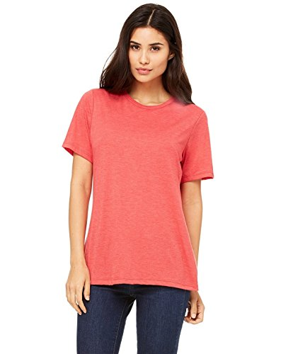 Bella + Canvas Women'S Relaxed Jersey Short Sleeve Tee (Red Triblend) (L)