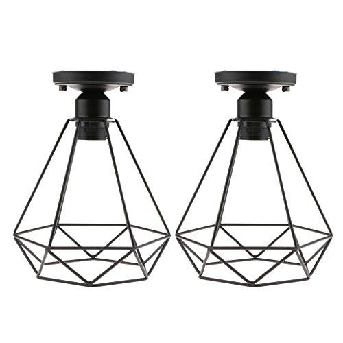 Dovewill 2 Pcs Jaula de la lámpara colgante coplimentos Iluinación E27 Portalámpara Estilo Clásico