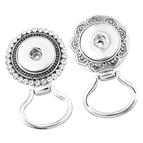 Fenteer 2 Stücke Magnetische Damen Brosche Deko Anstecknadel für Brille, Brillenhalter Brosche, aus Legierung