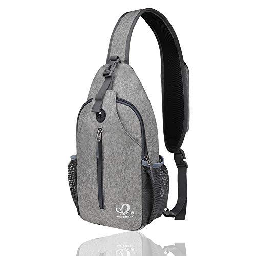 WATERFLY Sling Bag Crossbody Bag Schultertasche Damen und Herren für Wandern Radfahren Bergsteigen Reise Daypack