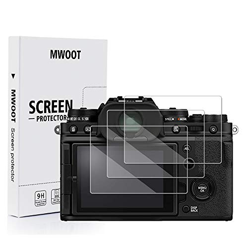 MWOOT - Set di 3 pellicole protettive in vetro compatibile con fotocamera digitale compatta Fujifilm X-T4 X100V, durezza 9H, antigraffio, per protezione dello schermo, accessori protettivi