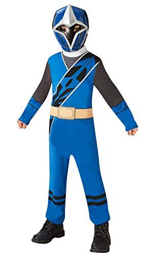 Rubie' s Costume ufficiale Power Rangers Ninja, acciaio-blu Ranger Childs costume Small, 3-4anni