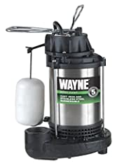 Assembled in the us with foreign and domestic parts Submersible cast iron and stainless steel sump pump with vertical float switch. CSA agency approved Fully submersible,8 ft Water Resisitant Power Cord provides easy access to nearby GFCI protected o...