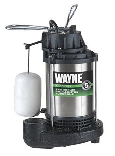 WAYNE CDU980E 3/4 HP Submersible Cast Iron and Stainless Steel Sump Pump With...