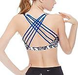 icyzone Sujetador de Fitness Cruzado de Tirante de Espalda Abierta para Mujer (M, Mariposa)
