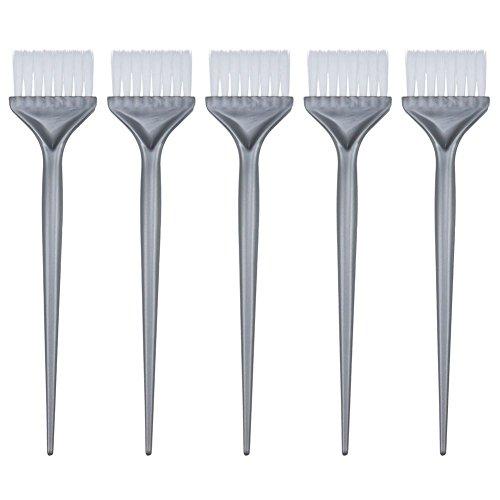 Beada 5 Pack Haarverf Kleurborstels Haarkleuring Verven Kit Handvat Salon Haar Bleach Tinting DIY Tool, Zilver Grijs