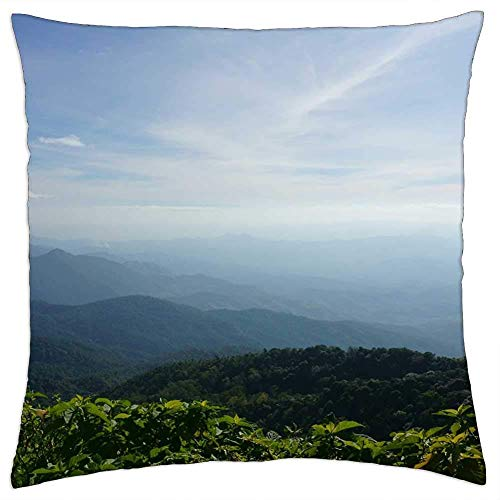 ETGeed Sky Mountain Nature Travel Rock Blue Hill Summer Throw Pillow Covers,Decorative Cushion For Sofa Couch Bed Home Decoration,18 x 18 Inch