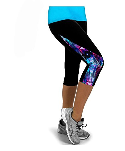 Xingxiang Leggings Mujer Push Up 3/4 Mallas Impresión Pantalones de Yoga Cintura Alta Pantalones Deportivos Leggins Elásticas