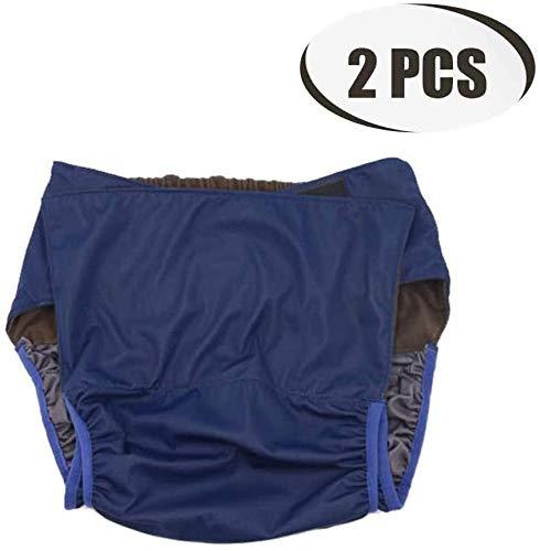 Pantalones de incontinencia, 2 Paquete reutilizable for adultos Pañales de tela de la cubierta, las necesidades de control de la vejiga Incontinencia Ropa interior especial, The Perfect solución simpl