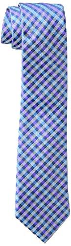 Wembley Big Boys Plaid Tie, Navy/Purple, One Size