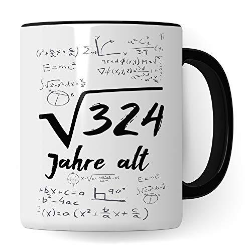 Pagma Druck 18. Geburtstag Tasse, Volljährig Geschenk Becher Mathe, 18 Jahre alt Geschenkidee, Kaffeetasse Mathematik 18. Geburtstag Geschenkideen lustig Geburtstagsgeschenk