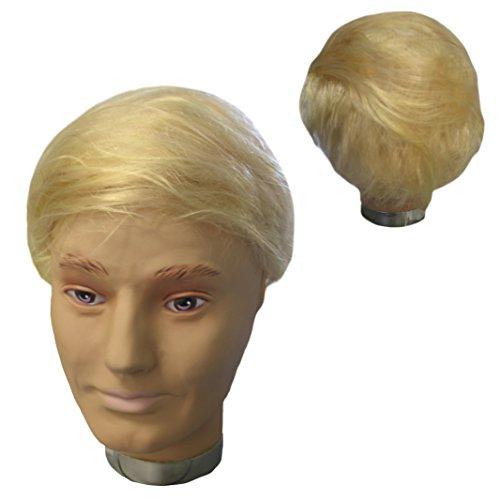 Krause & Sohn Perruque Blonde Donald Thème Président Amérique du Parti Shorthair Carnaval politiciens Fun
