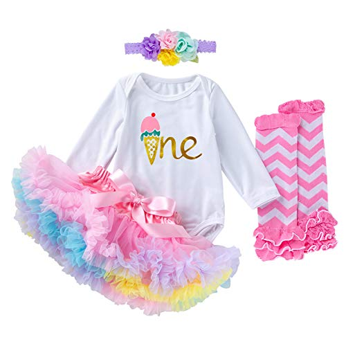 Toddler Baby Girl My 1st Birthday Dresses Cotton Outfits Set...