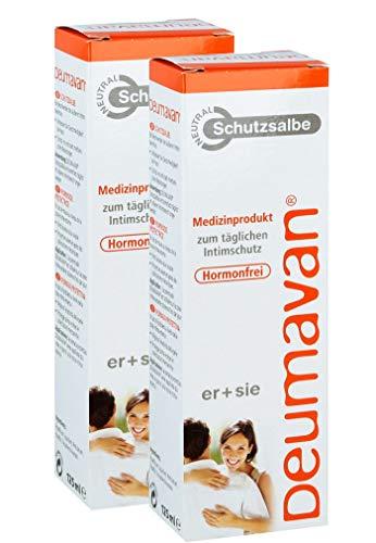Deumavan Natur Schutzsalbe, Spar-Set, 2x125 ml, Medizinprodukt zum täglichen Intimschutz für sie und ihn. Intimschuzt auf neuem Niveau. Hormonfrei.
