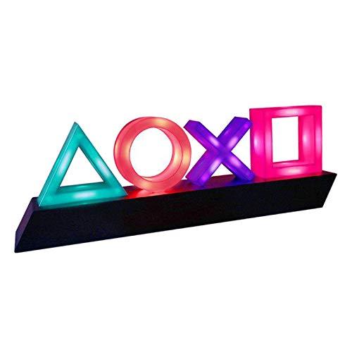 FLAMEER Licht Icons Lampe Stimmungslampe,3 Modi Musik Reaktiv Soundsteuerung Schlafzimmerraum Schreibtisch Lampe Beleuchtung Mehrfarbige Tasten Symbol Lampe mit Farbwechsel