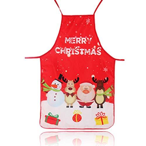 Tabliers de Cuisine Tablier de Cuisine de Noël Tissu Art Impression Couleur décoratif Props Cartoon Tabliers Robe Baudrier for Femme pour Le Festival (Color : 07)