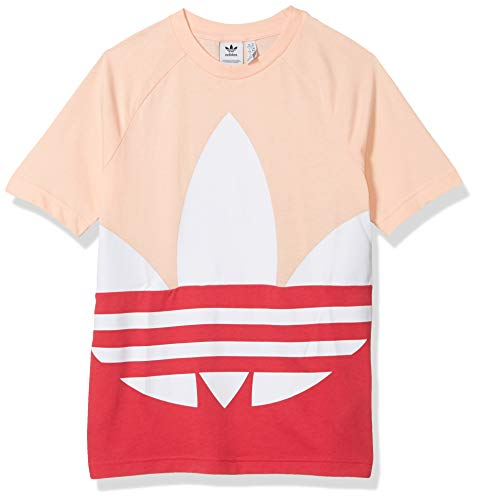 adidas Originals unisex-youth Large Trefoil Tee Haze Coral/Pink/White X-Large