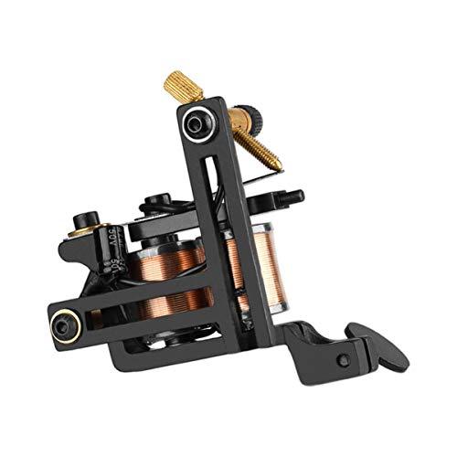 Healifty Machine de Tatouage de bobines de Laiton 12 bobines enveloppantes Doublure de Cercle de Shader Droite (Noir)