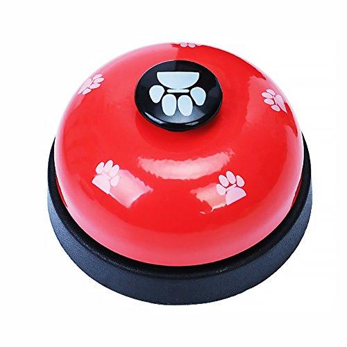 Naisicatar Haustier-Trainingsglocke, interaktives Spielzeug für Hunde, Welpen, Klingeln zum Lernen von Sauberkeit und zur Kommunikation, rot, 1 Stück