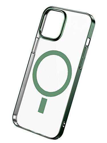 XYJP Estuche Magnético para Teléfono, Diseñado para iPhone 12 Estuche De Carga Inalámbrica Estuche para Teléfono Móvil,Sin Amarilleamiento Estuche Protector para Teléfonogreen-12 Pro MAX