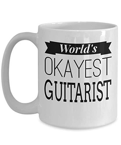 N\A Guitar Quotes About Love - Regalos novedosos en Forma de Guitarra Guitarrista - Taza Blanca de 11 onzas - El Guitarrista más aceptable del Mundo