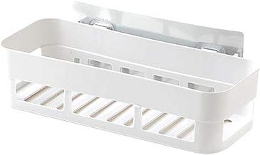 Aimili badkamer planken, douche organizer opslag ponsvrij toilet rek wandmontage badkamer rek muur zuig toilet opslag rek ...