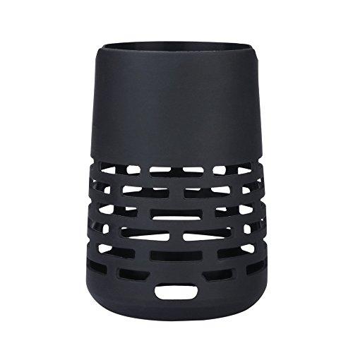 Für Bose Revolve Plus Schutzhülle, Colorful Tragetasche Weich Silikon Hülle Hülle Schutz für Bose So&Link Revolve+ Bluetooth Lautsprecher -Schwarz