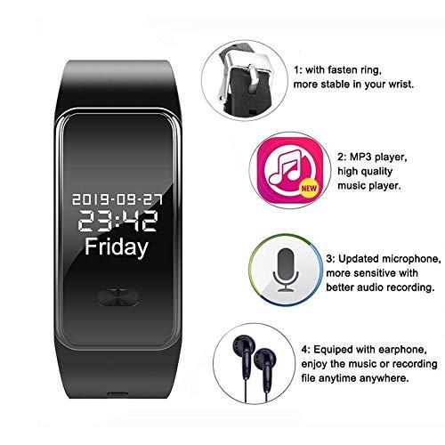 lembrd Diktiergerät - Armband Mit Handgelenk Digitales Diktiergerät Diktiergerät Uhr 16 GB HiFi für Vorträge