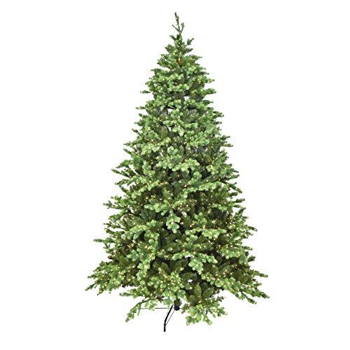 XONE Albero di Natale Madison LED 240cm | Pino in PE Effetto Real Touch + PVC con 4000 LED incorporati | Abete Natale Alta qualità con luci Integrate