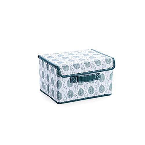 Caja de almacenamiento plegable, cesta de almacenamiento de tela con asa, organizador de almacenamiento plegable para juguetes, ropa de cama, bufandas