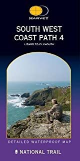 South West Coast Path 4 XT40: Lizard to Plymouth (Route Map) by Harvey Maps (2011-06-30)