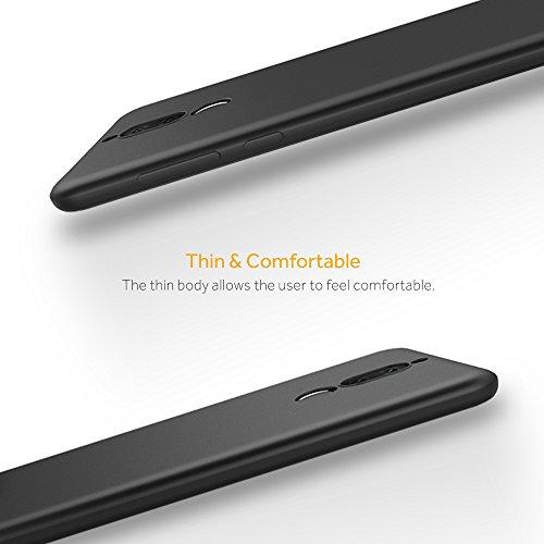 EasyAcc Huawei Mate 10 Lite Hülle Case, Schwarz TPU Telefonhülle Matte Oberfläche Handyhülle Schutzhülle Schmaler Telefonschutz für das Huawei Mate 10 Lite - 4