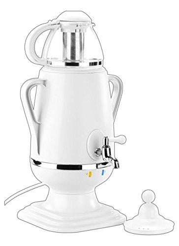 PEARL Samovar: Samowar-Teebereiter mit Glas-Teekanne, 2.300 Watt, 3,5 und 0,5 Liter (Teekanne mit Warmhaltefunktion)