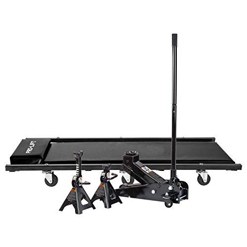 Pro-LifT G-4630JSCB 3 Ton Heavy Duty Floor Jack/Jack Stands and Creeper Combo - Great for Service...