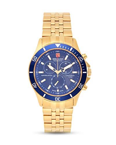 Swiss Military Hanowa Unisex Erwachsene Analog Quarz Uhr mit Edelstahl Armband 06-5183.7.02.003
