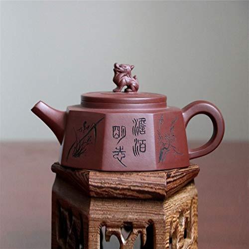 DANJIA - Tetera de arcilla morada y unicornio hecha a mano Barro morado