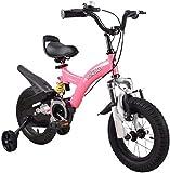 Bicicletas para niños, niños de 3 a 9 años de edad Bicicleta Bicicleta Chica Pedal Balance Coche Montaña Bicicleta 12-18 pulgadas Bicicleta deportiva al aire libre (Color: Rojo, Tamaño: 18in)