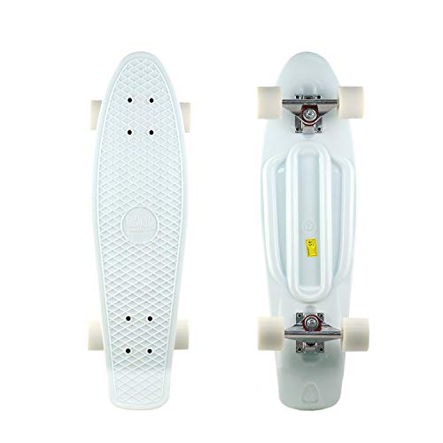 DINBIN Complete Highly Flexible Plastic Cruiser Board 27 Inch Skateboards for Teens or Professional with High Rebound PU Wheels