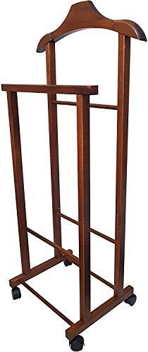 Appendiabiti Indossatore Porta Abiti in legno Noce Servo Muto per camera