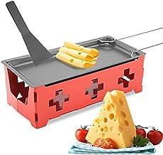 HERCHR Appareil a Raclette Bougies, Faites Fondre Votre Fromage en 3 Minutes avec Spatule, 19 x9,5 x6cm