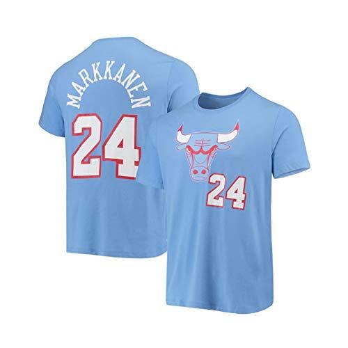 Maillot de baloncesto Bulls #24 Markkanen Dri-fit Swingman Uniforme, unisex sin mangas chaleco para interior y exterior ejercicio y uso casual